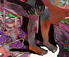 illustration /Barbiturates/ 2015/  (paper, markers, watercolor, pencils)