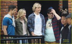 ross lynch olivia holt status update filming pics vancouver 14