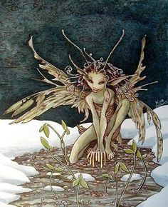✯ Artist Unknown ✯ Possibly Brian Froud? Magic Creatures, Fantasy Creatures, Mythical Creatures, Fantasy World, Fantasy Art, Elfen Fantasy, Kobold, Elves And Fairies, Illustration