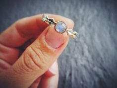 Moonstone 14K Gold and Sterling Silver Unique by ericafreestone