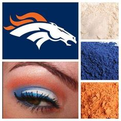 Denver Broncos   Support your favorite team with Younique fabulous pigments.   Younique Southern Lashes by Abby   http://www.facebook.com/yslashes www.yslashes.com