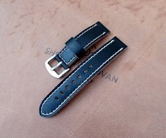 Shell Cordovan leather handmade watch strap 20 mm. от difues
