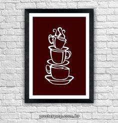 Poster Xicaras de Café