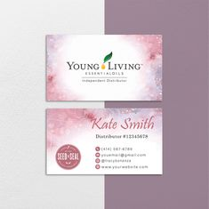 Floral Personalized Young Living Cards, Floral Essential Oil Card YL65– ToboArt