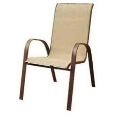 Courtyard Creations Brz Stacking Chair Kts021w Aluminum/Steel Patio Chairs