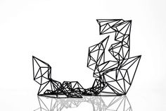 Mutation #1 is a sculpture stemming from digital creative and manufacturing processes and realized via 3D printing. It is the eruption of a 3D wireframe into reality. #3dprinting