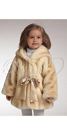 Child fur coat