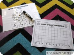 Spinning snowflakes- addition game