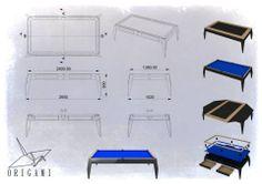 """Konkurs """"Projekt nowoczesnego stołu bilardowego"""" Lissy.  I nagroda: Jakub Handke """"Origami"""""""