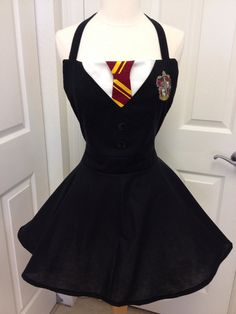 Harry Potter adult full apron costume by AJsCafe on Etsy, $60.00