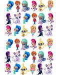 36 x PERCUT SHIMMER & SHINE edible birthday stand up ...