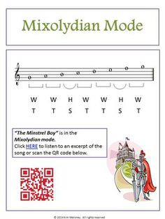 MODES: Teacher resources, Student workbook and music excerpts all in one file. Packed with content! #musiceducation #musedchat