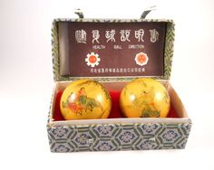 Health Balls China Chimes The Great Wall Brand by MissPattisAttic
