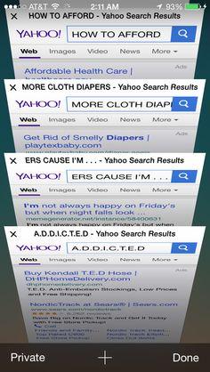 Cloth Humor -A.D.D.I.C.T.E.D http://MyGreenNest.com #ClothDiapers #ClothHumor