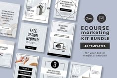 There are 20 Instagram templates and 20 Pinterest templates. These eCourse templates have everything you need to create intentional content to promote your eCourse.  $21 #sponsored #ad