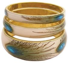 #Natural #Peacock Feather #Earrings       Very pretty, but be careful!       http://amzn.to/HhThF5