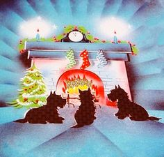 Christmas Scotties wait.