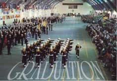 Great Lakes Naval Base--that graduation ceremony is something to see. My son is a 2001 grad--go Seabees!