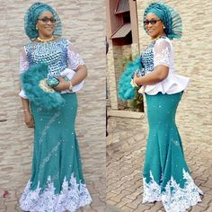 Trendy Asoebi Styles is the most trending styles that will make you to be significant and outshine in any Owambe party. African Dresses For Kids, African Lace Dresses, African Fashion Designers, Latest African Fashion Dresses, Nigerian Lace Styles, African Lace Styles, Nigerian Dress, African Style, African Attire