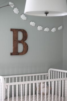 """I thought I would post a little """"tutorial"""" about how I made my little cloud garland for Beckham's Room. It's quite simple and very inexpensive! I just love the little happiness it added above his..."""