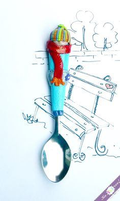Toy Baby Spoon Boy Unique Children Cutlery Stainless by KaSHIKeee, $14.00