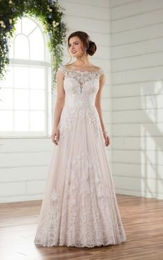 Essense of Australia #D2327. Available at It's Your Day Bridal Boutique. 1661 Front Road, LaSalle, Ontario 519-978-5003