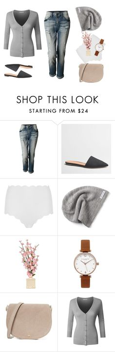 """Half Asleep Monday Mornings"" by le3noclothing ❤ liked on Polyvore featuring LE3NO, J.Crew, Marysia Swim, Converse, Olivia Burton and Tory Burch"