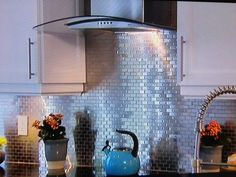14 Wonderful Metal Backsplash Tiles For Kitchens Foto Idea