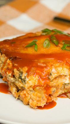 Buffalo Chicken Lasagna