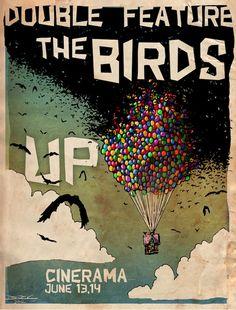 The Birds Alfred Hitchcock Up PIxar