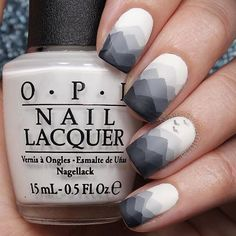 Image via We Heart It #blue #darkblue #fashion #geometric #girls #gray #inlove #nails #style #white #opi