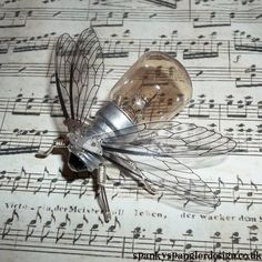 Steampunk brooch  Small Calliphora Brooch  by spankyspanglerdesign, £10.95 (musical bee)
