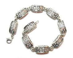 Sterling Silver Bracelet Vintage Filligree Organic by 20thCentury, $85.00