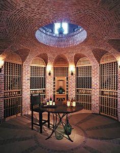 Traditional Brick Wine Cellar