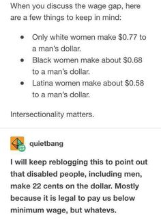 There is no 'Wage Gap'. Men, on average, make more money than their female counterparts. <<That's literally the definition of wage gap, you absolute walnut.