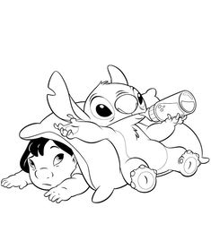 disney stitch coloring pages | Stitch-coloring-6