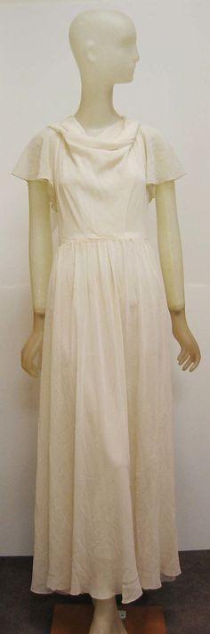 Nightgown Madeleine Vionnet  (French, Chilleurs-aux-Bois 1876–1975 Paris)  Date: ca. 1931 Culture: French Medium: silk. Front