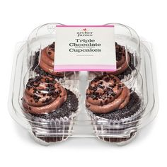 Archer Farms Triple Chocolate Cupcake with Fudge Filling 4 ct Chocolate Filling, Decadent Chocolate, Chocolate Frosting, Chocolate Cupcakes, Chocolate Flavors, Mini Chocolate Chip Muffins, Yummy Treats, Yummy Food, Rich Cake