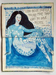 @romarny | Season of Introspection | Get Messy Art Journal