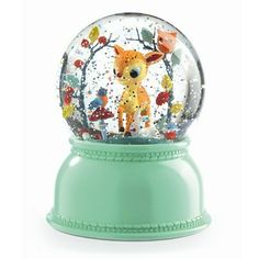 These glitter globe night lights by Djeco are a My Small Bestseller, especially for Newborn gifts. The fawn sits inside his glass globe amid a bower Glitter Globes, Snow Globes, Water Globes, Bambi, Newborn Gifts, Baby Gifts, Designers Guild, Childrens Lamps, Gaspard
