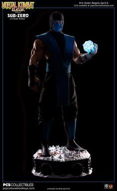 Mortal Kombat Klassic Sub-Zero Statue med