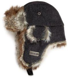 5dbef09a6bc Amazon.com  Chaos Men s Dylon Wool Blend Trapper Hat (Heather Black