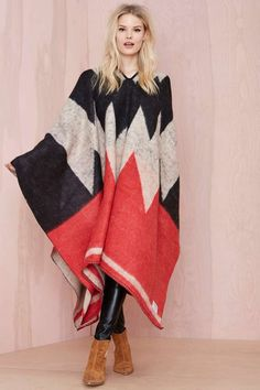 Brixton Barry Poncho   Shop Sweaters at Nasty Gal