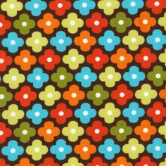 full yard playroom; 1 Yard  Remix Chocolate Flower by Ann Kelle by SistersandQuilters, $9.90