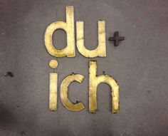 Vintage Schriftzug du+ich  www.freundts.de