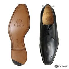Cheaney Liverpool | Black Gibson Shoe | Hand Made in England