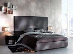 #chambre #design #linge #lit #noir Photo : But