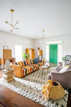 Simple but fun living space | @modernburlap loves