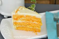 Recipe for Orange Creamsicle cake Worthington Court...really good and moist....thanks Ann *** ***I made cream cheese icing instead of can.