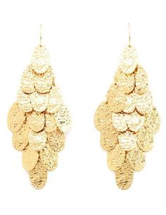DANGLING HAMMERED CHANDELIER EARRINGS